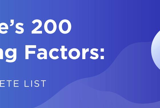 Simple 200 Factors For Rank Higher in Google